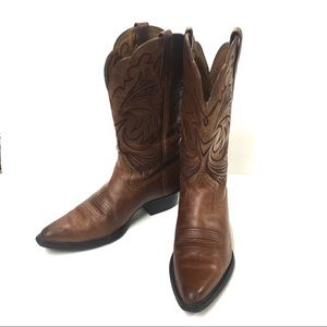 Ariat Western Brown Cowboy Boots Size 7B